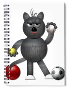 Cool Alley Cat Athlete Spiral Notebook