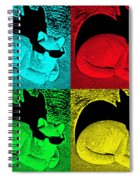 Cool Cat Pop Art Spiral Notebook