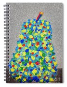 Cool Crazy Pear Abstract Painting Spiral Notebook