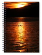 Coots In The Sunset Spiral Notebook