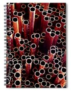 Copper Pipes. Spiral Notebook
