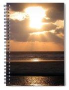Copper Sunset Stroll Spiral Notebook