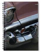 Coral Chevy Halftone Spiral Notebook