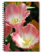 Coral Tulips Spiral Notebook
