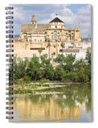 Cordoba Cathedral And Guadalquivir River Spiral Notebook