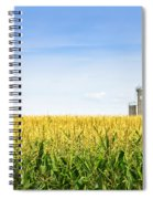 Corn Field With Silos Spiral Notebook