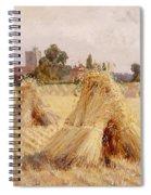 Corn Stooks By Bray Church Spiral Notebook