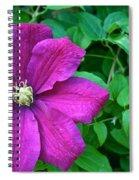 Corner Clematis Spiral Notebook