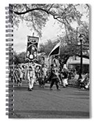 Corner Club 4 Black And White-mardi Gras Spiral Notebook