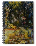 Corner Of A Pond With Waterlilies Spiral Notebook