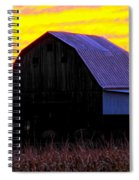 Cornfield Barn Sky Spiral Notebook