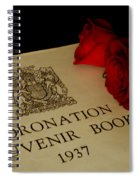 Coronation Book With Roses Spiral Notebook