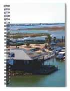 Corpus Christi Bay Towards Mustang Island Texas Spiral Notebook