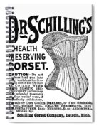 Corset Advertisement, 1887 Spiral Notebook