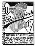 Corset Advertisement, 1888 Spiral Notebook