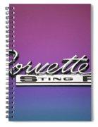 Corvette Sting Ray Emblem Spiral Notebook