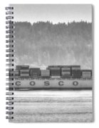 Cosco Cargo Ship Spiral Notebook