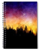 Cosmic Night Spiral Notebook