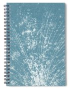 Cosmic Ray Particle Tracks Spiral Notebook