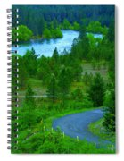 Cosmic River Road Spiral Notebook