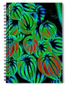 Cosmic Watermelon Leaves Spiral Notebook