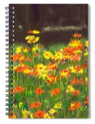 Cosmos Flowers Spiral Notebook