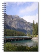 Crossing Emerald Lake Bridge - Yoho Nat. Park, Canada Spiral Notebook