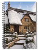 Cotswolds Cottage Covered In Snow Spiral Notebook