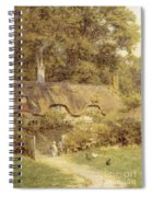 Cottage At Farringford Isle Of Wight Spiral Notebook