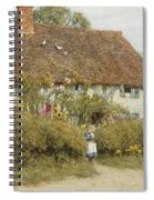 Cottage At West Horsley Surrey Spiral Notebook