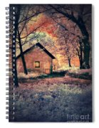 Cottage In The Woods Spiral Notebook