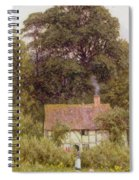Cottage Near Brook  Spiral Notebook