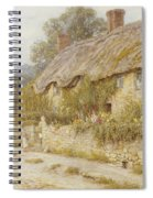 Cottage Near Wells Somerset Spiral Notebook