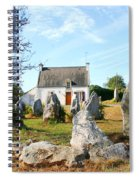 Cottage With Standing Stones Spiral Notebook
