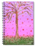Cotton Candy Sky Wishing Tree Spiral Notebook