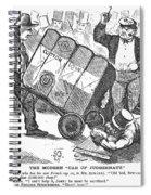 Cotton Loan Cartoon, 1865 Spiral Notebook
