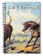 Cotton Thread Trade Card Spiral Notebook