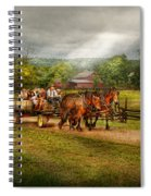 Country - Horse - Life's Pleasures Spiral Notebook