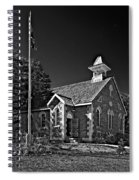 Country Church Monochrome Spiral Notebook