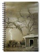 Country Horses Lightning Storm Ne Boulder Co 66v Bw Art Spiral Notebook