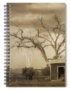 Country Horses Lightning Storm Ne Boulder County Co 76septx Spiral Notebook