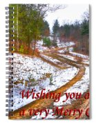 Country Lane Holiday Card Spiral Notebook