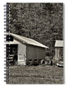 Country Life Sepia Spiral Notebook