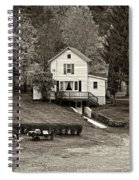 Country Living Sepia Spiral Notebook