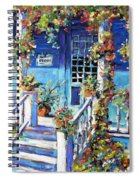 Country Porch And Flowers By Prankearts Spiral Notebook