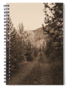 Country Road In Sepia  Spiral Notebook
