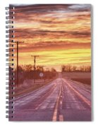 Country Road Sunrise Spiral Notebook