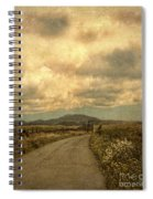 Country Road With Wildflowers Spiral Notebook