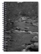 Country Stream Bw Spiral Notebook