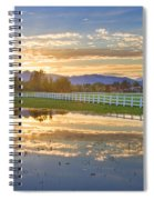Country Sunset Reflection Spiral Notebook